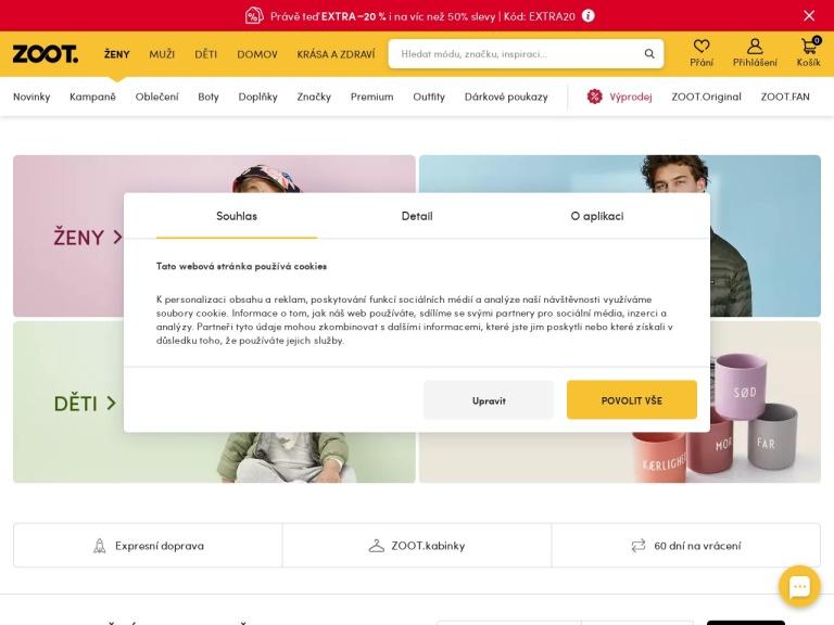 urbanstore.cz screenshot