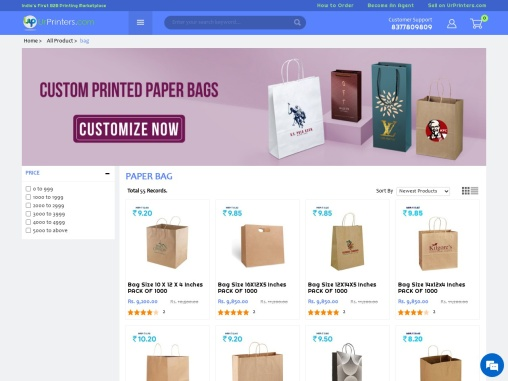Paper Bag With Your Brand Logo