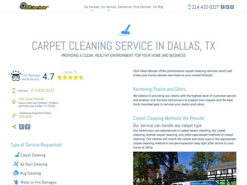 USA Clean Master- Carpet cleaning in Dallas, Texas