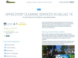 Upholstery Cleaning in Dallas, TX – USA Clean Master