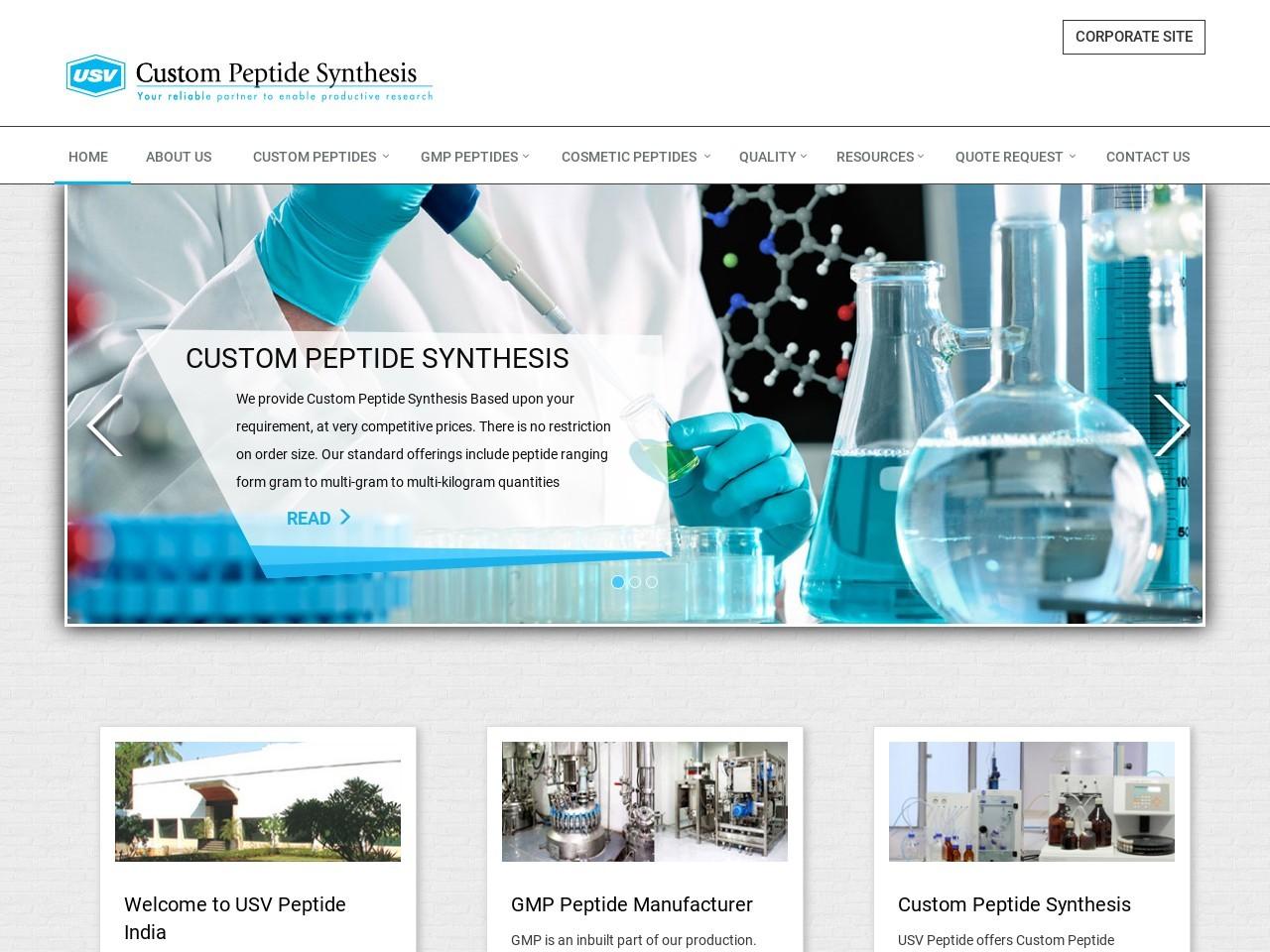 Immunology, Peptidomimetics, Toxicology Studies in UK & USA – USV Peptide