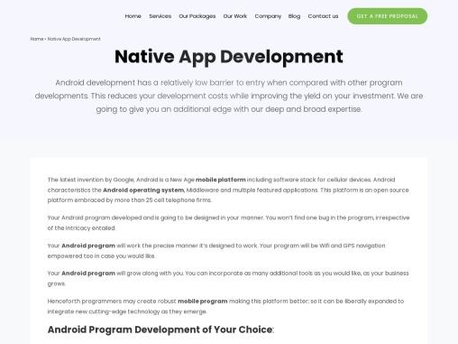 Native App Development Company in India – Vxplore Technologies