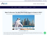 Want to Become The Best Real Estate Agent in Dubai [2021]