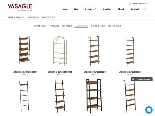 Ladder Shelves for Sale|Trade Furniture Supplier|VASAGLE