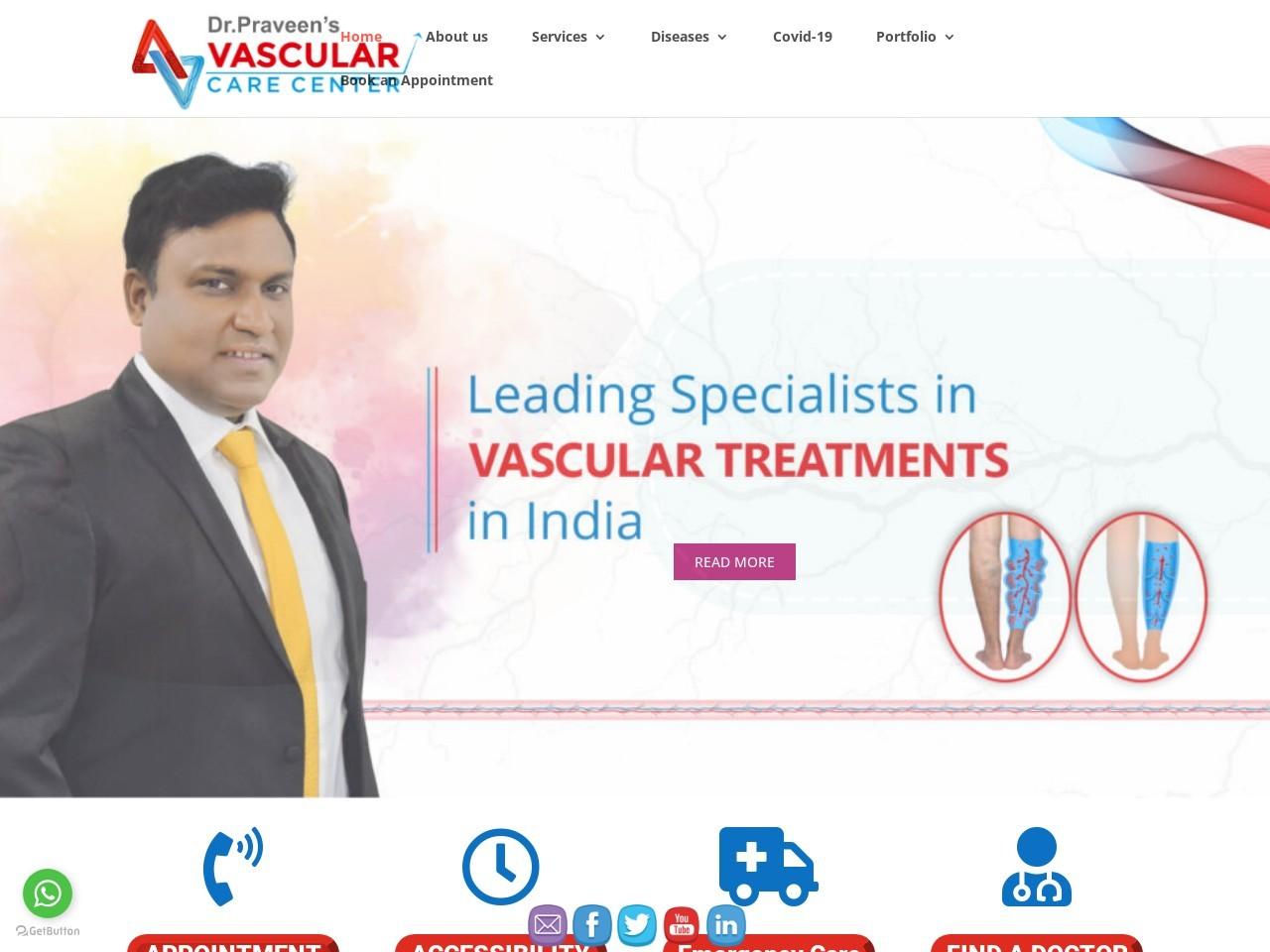 Consult best vascular surgeon in Hyderabad | Vascular Care Center