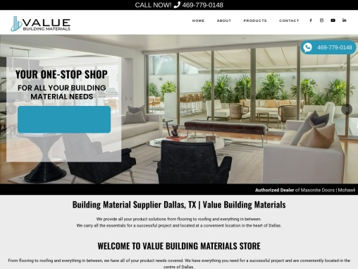 WELCOME TO VALUE BUILDING MATERIALS