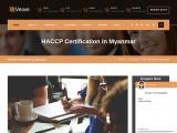 HACCP certification consultancy in Myanmar-Veave