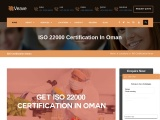 ISO 22000 certification consultancy in Oman-Veave