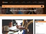 ISO 22301 certification consultancy in Myanmar-Veave