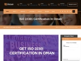 ISO 22301 certification consultancy in Oman-Veave