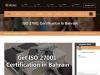 Iso 27001 Certification Bahrain