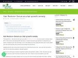 Hair Restore+ Serum as a hair growth remedy