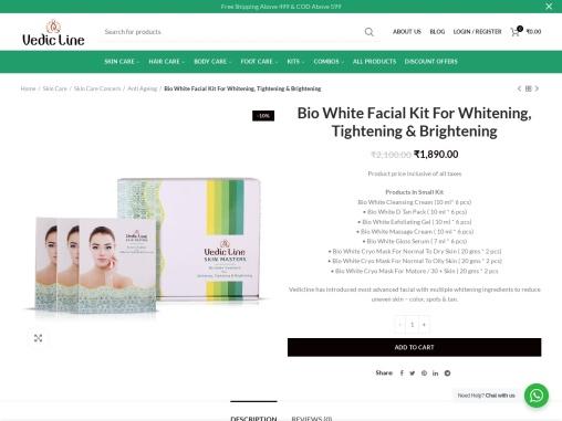 Bio White Kit for Whitening, Tightening & Brightening – Vedicline