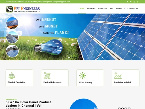 Solar power consultants in Chennai  PV Modules  Vel Engineers