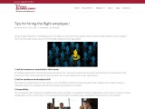 Tips for hiring right employee to your company