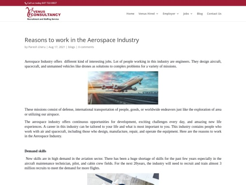 Reasons to work in the Aerospace Industry