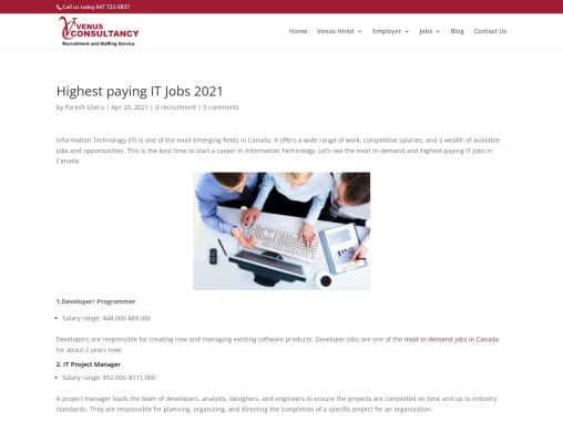 Most in demand IT jobs in Canada