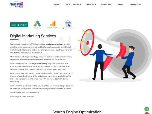 Best Digital Marketing Services Agency in Hyderabad   Versatile Mobitech