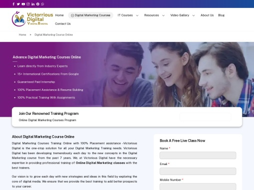 Online Digital Marketing Courses In India | Join Online Training Institute