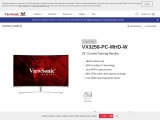"""VX3258-PC-MHD-W 32"""" Curved Gaming Monitor"""