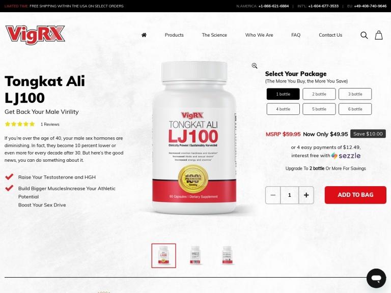 VigRX Tongkat Ali screenshot