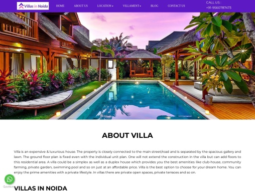 Buy Luxurious  Affordable Villas In Noida