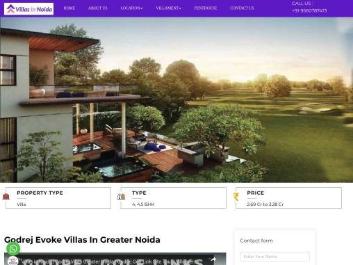 Godrej Evoke Villas | Godrej Golf link Evoke Villas in Greater Noida
