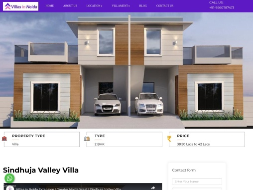 Sindhuja Valley Villa   Freehold Villas Noida Extension   2BHK Villas Noida Extension