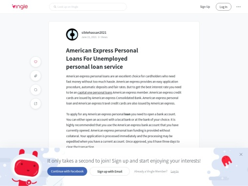 American Express Personal Loans For Unemployed Personals