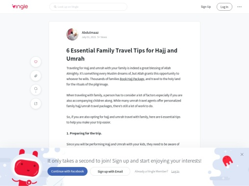 6 Essential Family Travel Tips for Hajj and Umrah