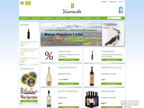 vinoverde - Biowein vom Bioweinhandel mit der großen Auswahl
