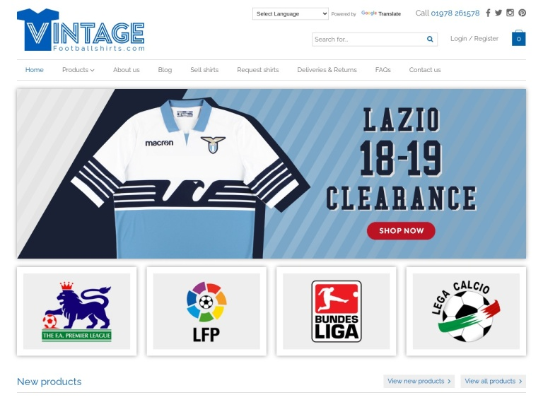 Vintage Football Shirts screenshot