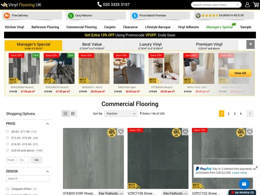 Want to create stylish and comfy flooring for your workspace? Buy Industrial Lino Flooring!