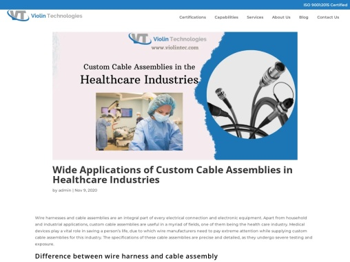 Custom Cable Manufacturers | Wiring harness manufacturers