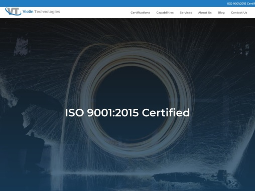 ISO 9001:2015 Certified Contract Manufacturers | Violin Technologies