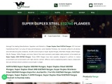 ASTM A182 Super Duplex Steel S32760 Flanges