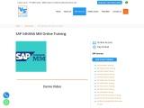 SAP S4HANA MM Online Training in Hyderabad