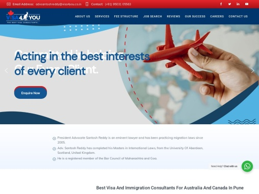 Immigration Visa Consultants for Australia and Canada in Pune – Visa4You