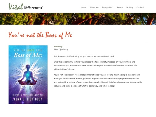 You're not the Boss of Me by Alma Lightbody