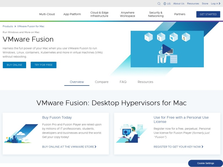 VMware Fusion Coupons and Discounts February 2021 screenshot