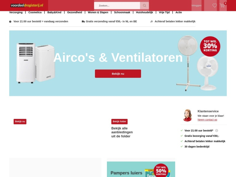 Voordeeldrogisterij.nl screenshot
