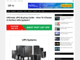 Ultimate UPS Buying Guide – How To Choose A Perfect UPS System?
