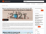 A Guide To Coronavirus Travel Updates In The UK 2021