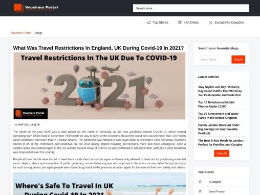 A Guide To Coronavirus Travel Updates In The UK 2021