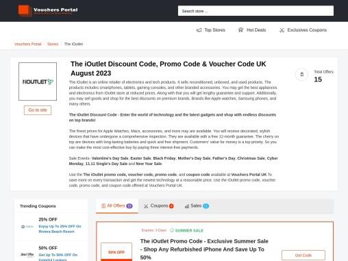 Shop The iOutlet Deals – Raise Money For Charity