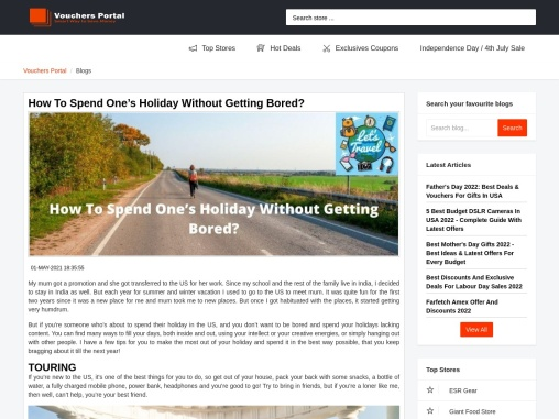 How To Spend One's Holiday Without Getting Bored?