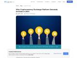 Why Cryptocurrency Exchange Platform Demands Increase in 2021