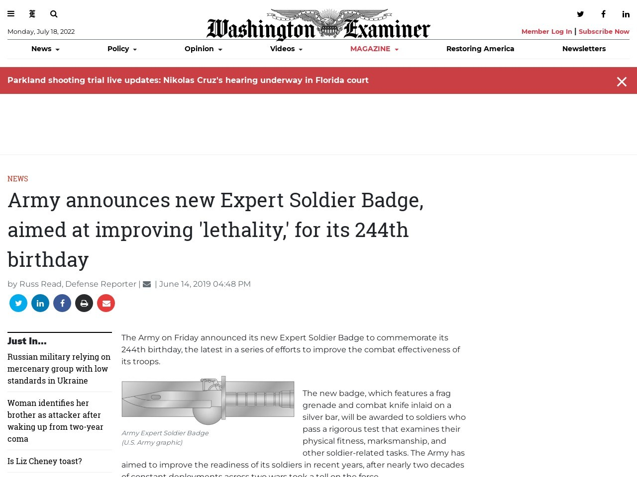 Army announces new Expert Soldier Badge, aimed at improving…