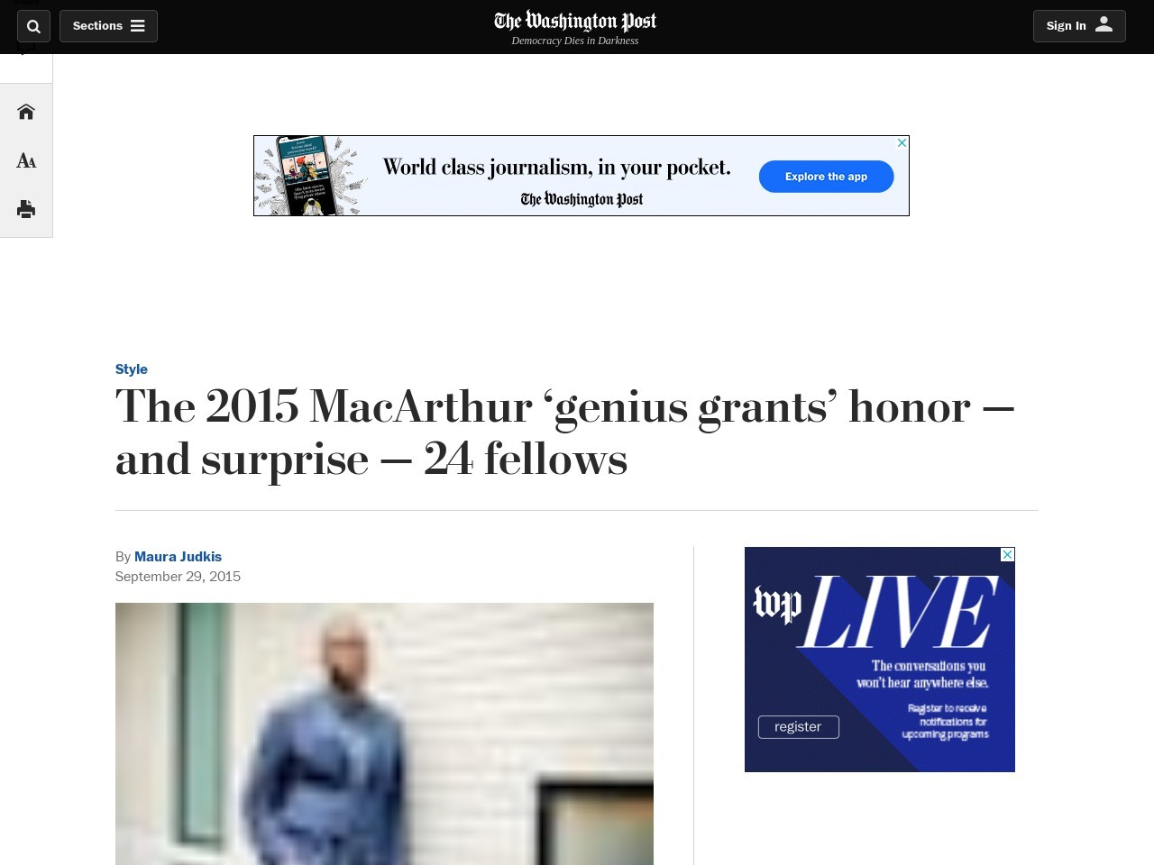The 2015 MacArthur 'genius grants' honor — and surprise — 24 fellows