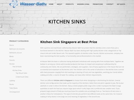 Kitchen Sink Singapore | Washar Bath